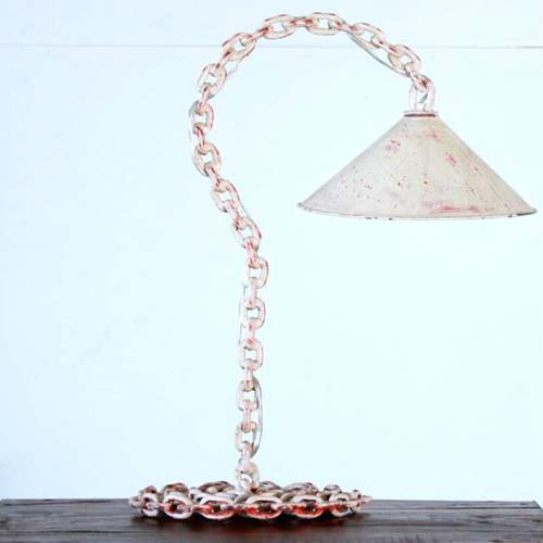 CHAIN LINK TABLE LAMP