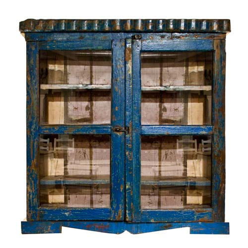 Order Now; ANTIQUE GLASS WALL CABINET