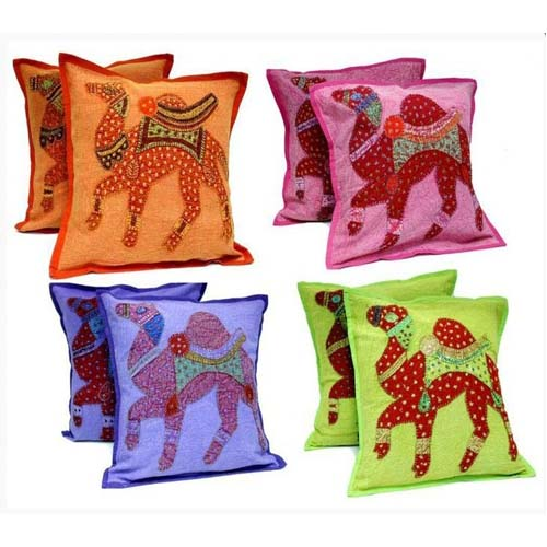 EMBROIDERED CAMEL DESIGN CUSHIONS