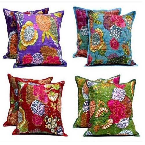 KANTHA FABRIC CUSHION
