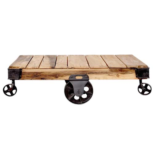 TROLLY COFFEE TABLE ON WHEELS