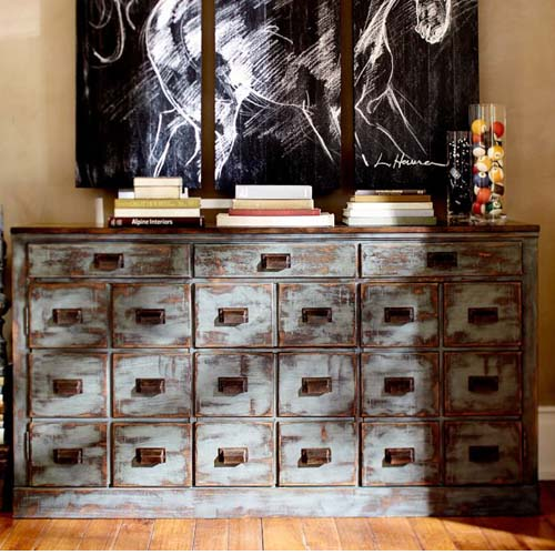 WOODEN 21 DRAWERS CHEST