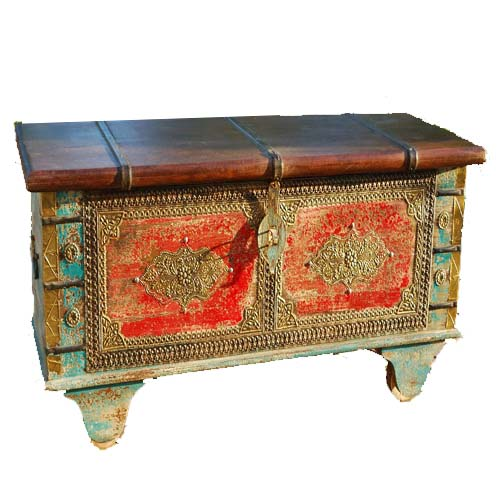 Indian wooden handicrafts  Wooden iron furniture